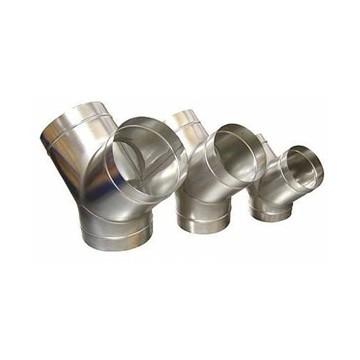 Raccordo a Y in acciaio zincato per condotte