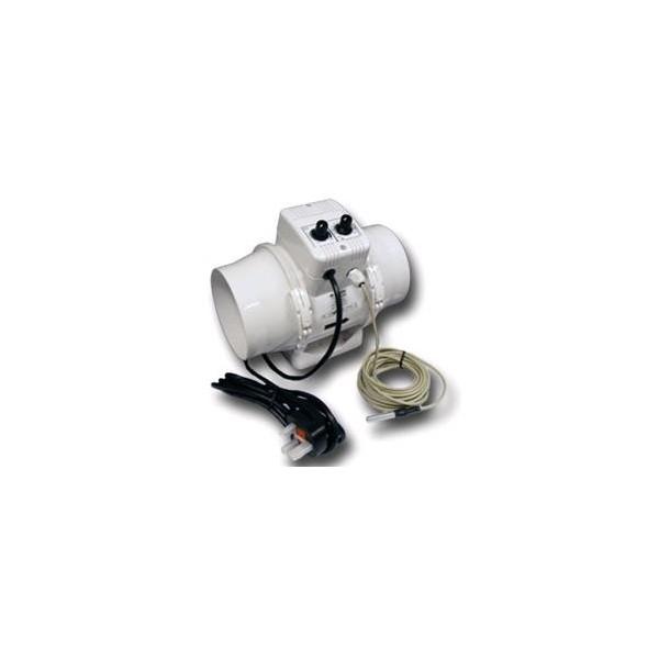 Vents Aspiratore TTUN DIAM. 125 Cablato + Termostato + Controllo Velocità 280 MC/H