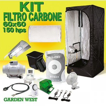 Kit 60x60x150 - 150 w HPS + Filtro Anti Odore
