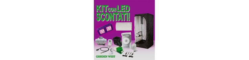 Lampade A Led Per Coltivazione Indoor.Kit Grow Box 60x60x150 Led Kit Coltivazione Indoor Garden